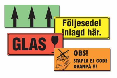 Förtryckta etiketter